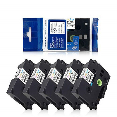 5x Tape Cassette Compatible Brother P-touch TZe-231 Laminated Adhesive Label x