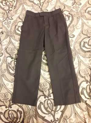 Marks & Spencer Autograph Boys Trousers Dark Grey School Uniform Size 7 Years
