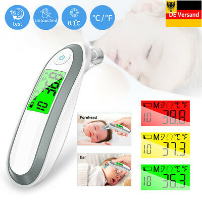 Baby Digital LCD Infrarot Fieberthermometer Stirnthermometer Ohr Thermometer DHL