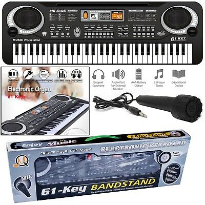 Digital Electronic Piano Electric Music Keyboard 61 Keys Organ Mini Microphone