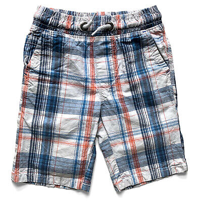 Boys NEXT Red White & Blue Checked Shorts - Size 5 Years