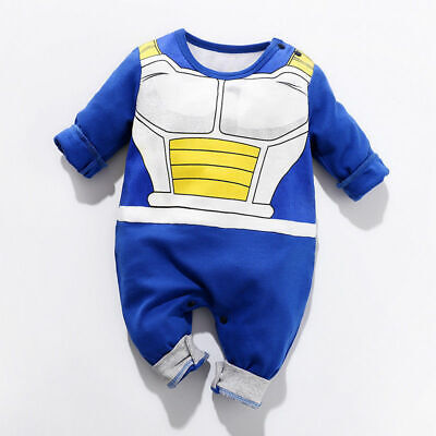 Baby Toddler Dragon Ball Vegeta Jumpsuit Boy Girl Romper Kids Bodysuit Cosplay