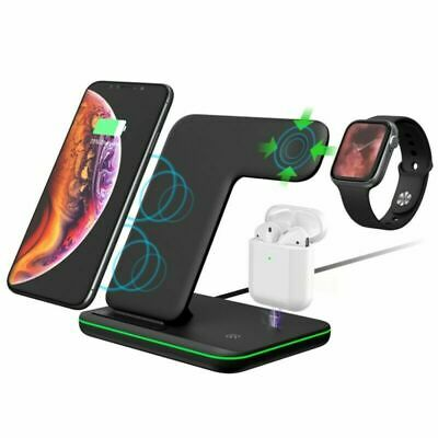 3IN1 FAST WIRELESS Charger Qi Ladegerät Für iPhone Airpods