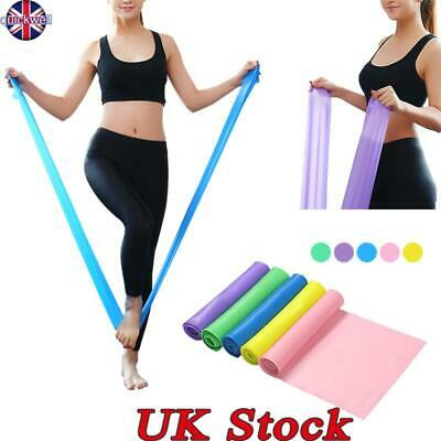 UK Elastic Resistance Bands Yoga Exercise Gym NHS Pilates Stretch Straps Physio