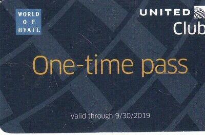 ✈️ United Club Pass EXP 09/30/2019 United Airlines Lounge Mail Delivery