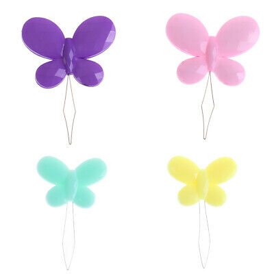 2pcs/set needle threader sewing machines plum blossom butterfly shape craft t~GN