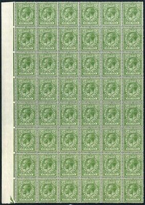 1924 KGV Block Cypher 9d Olive-green UNMOUNTED MINT Block of 48 SG 427