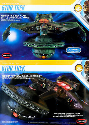 Star Trek Klingon K'T'INGA Class + LED Lighting Kit 1:350 Model Kit Polar Lights
