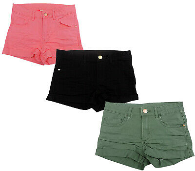 Girls Ex H-M Denim Cotton Shorts 3 Colours 8/9 - 14 years UK