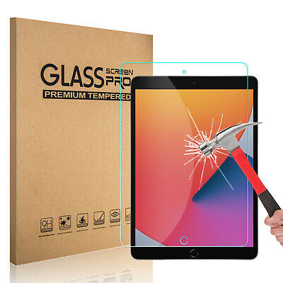 For iPad 10.2 inch 2019 7th Generation HD Tempered Glass Screen Protector Cover