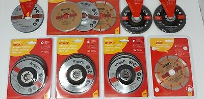 Metal Stone Diamond Cutting Grinding Discs Sets Various Types Sizes Thickness