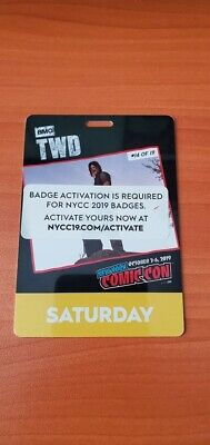 NYCC 2019 Saturday Badge New York Comic Con Verified and ACTIVATED