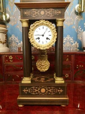 C19th French Portico Clock By Le Blanc A Boulogne (Don't buy sold to owvf1311)