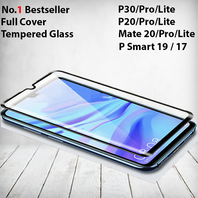 For Huawei P20 P30 Pro Lite Mate 20 P Smart Tempered Glass Full Screen Protector