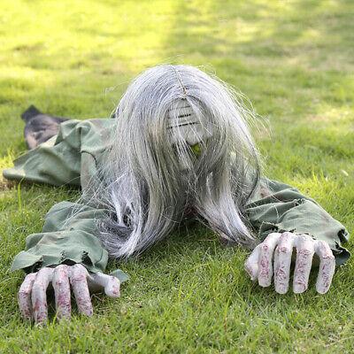 Halloween Electric Crawling Zombie Prop Animated Horror Haunted House Party NEW