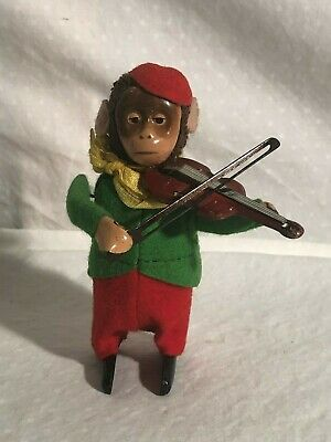 Schuco Violin Playing Monkey working toy with original key