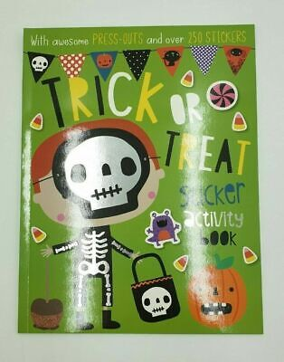 Halloween Trick or Treat Sticker Activity Book A4 Colouring Press out RRP £4.99