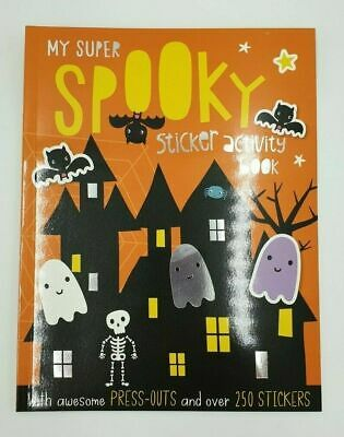 Halloween SPOOKY Sticker Activity Book A4 Spooky Colouring Press outs RRP £4.99