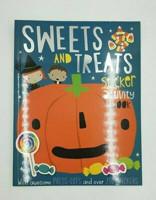 Halloween SWEETS & TREATS Sticker Activity Book A4 Colouring Press out RRP £4.99