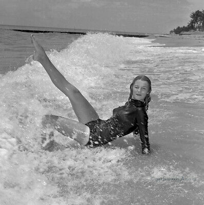 Bunny Yeager Pin-up Camera Negative Photograph Seaside Frolic Alta Whipple 1960