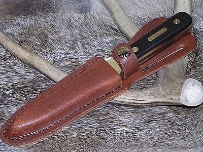Old Timer Schrade Hunting Boot Knife Dagger W/ Sheath Case !!!