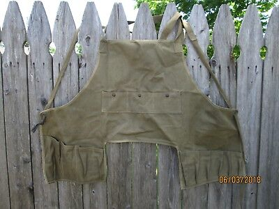 US Army Air Force corps AAF WW2 Mechanics Apron Type B-2 Spec 3136 green Canvas