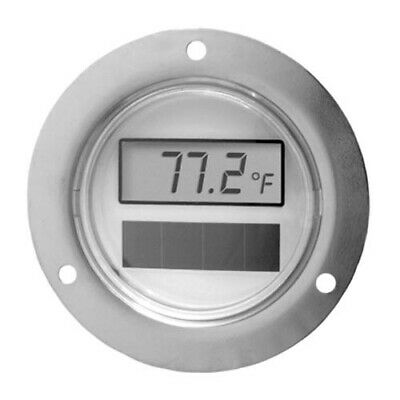"2"" Solar Powered Digital Thermometer with Front Flange and 108"" capillary"