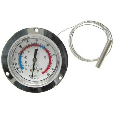 "2 1/2"" Recessed Dial Thermometer with 48"" Capillary"