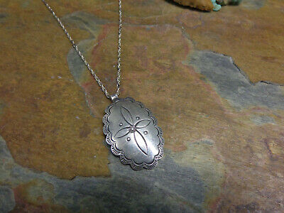 NAVAJO STERLING HAND Crafted Concho Butterfly Necklace