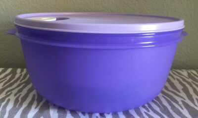 Tupperware Large Crystalwave Microwave Container 4qt w/ Colander Lilac New