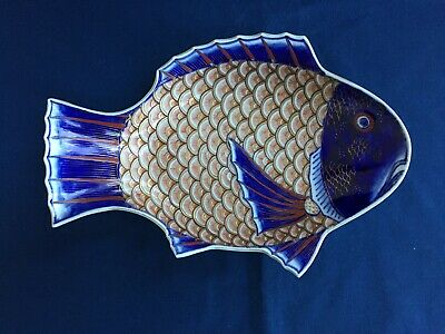 Antique Japanese Imari Porcelain Fish Plate