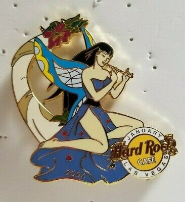 Hard Rock Cafe Pin Las Vegas January Fairy Series Fairy With Wings Playing Flute