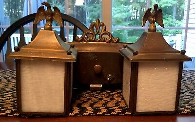 Vintage Electric Wall Sconce Light Fixtures Patriotic Eagles Inside/Outside ACME