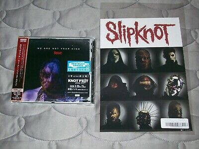 Slipknot - We Are Not Kind(Japan 1st Press + sticker sheet & 1 bonus)stone sour
