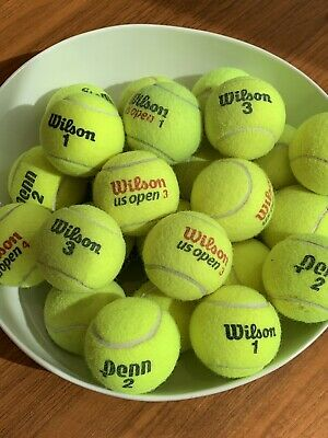 25 used tennis balls - QUICK, FREE SHIPPING