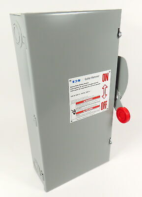 Eaton Dh363Ugk Cutler Hammer Heavy Duty Safety Switch 100A 600V 60Hz Made In Usa