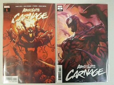 Lot of 2 Absolute Carnage #1 Ryan Stegman & Stanley Artgerm Lau Variant Cover NM