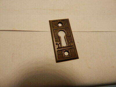 Antique Door Lock Key Hole Escutcheon Brass Eastlake  (KH 40).