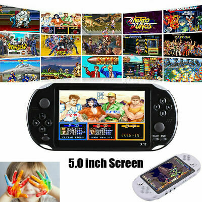 "X12 Portable 5"" Retro Classic Game Console Handheld 800 Built-in Games  32-bit"