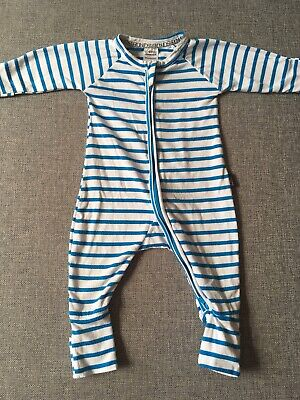 Bonds Baby Zippy Wondersuit Size 000 0-3 Months Blue/white stripe