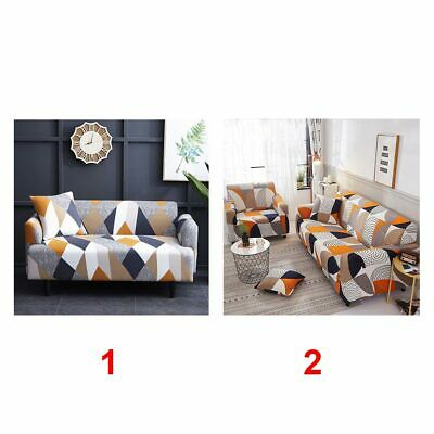 1/2/3 Seater Elastic Sofa Covers Slipcover Settee Stretch Printed Couch Protecto