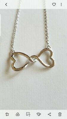 Sterling Silver Infinity Bow Necklace