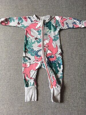 Bonds Baby Zippy Wondersuit Size 000 0-3 Months Grey Fox