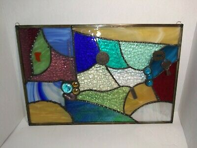 Handcrafted Stained Glass Panel