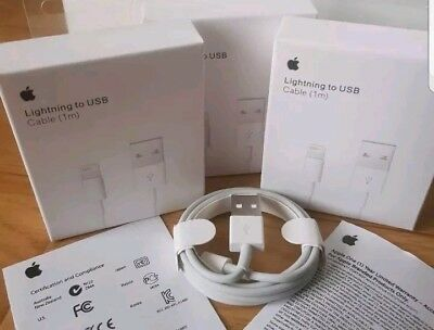 CABLE USB CHARGEUR IPHONE 5/6/7/8/X/XS/XSMAX/XR -11 LIGHTNING 100% cordon 1/M