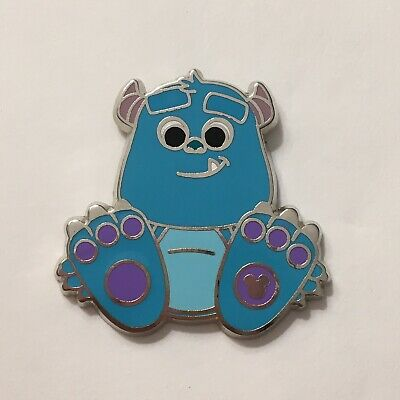 Disney Pin Sulley Monsters Inc Big Feet Cutie 2018 2017 DLR Hidden Mickey