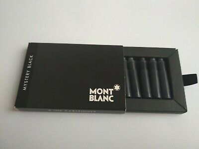 Official Montblanc Mystery Black Ink Cartridges 8 pieces in box #105191 NEW