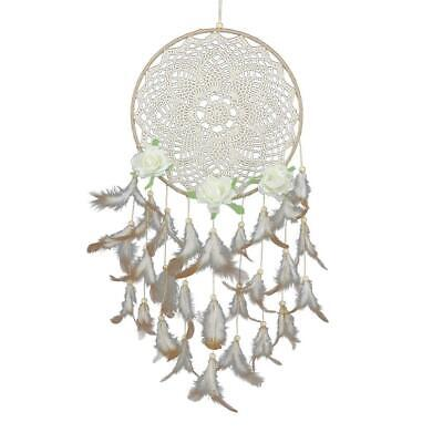 Feather Flowers Dream Catcher Wall Hanging Ornament Home Car Decor Craft Gift