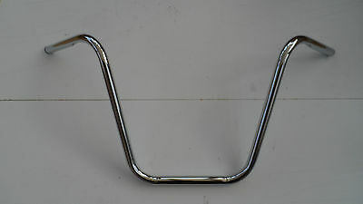"Chrome 16"" Ape Hanger for 1"" Handlebars Harley-Davidson with Dimples for 1982+"