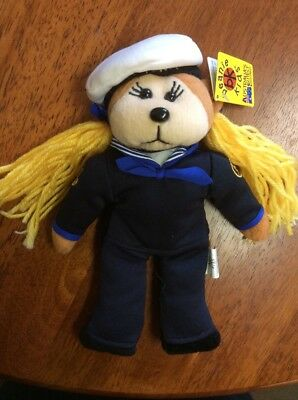Beanie Kid Pearl The Navy Girl Nwt Tag In Perfect Cond